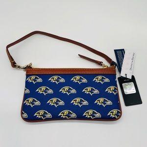Dooney & Bourke Bags - Dooney & Bourke Baltimore Ravens Large Wristlet